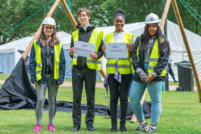 Student blog: Taking part in the Shape My City livebuild at the Festival of Nature 2019